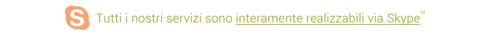 Orientamento, Creazione d'impresa, Bilancio di competenze. Tutti i nostri servizi sono interamente realizzabili via Skype